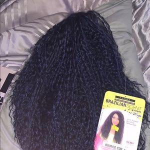 100% natural Brazilian human hair wig